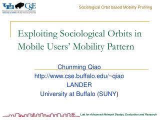 Exploiting Sociological Orbits in Mobile Users' Mobility Pattern