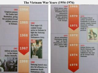 The  Vietnam War Years (1954-1976)