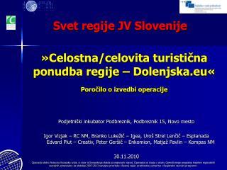 Svet regije JV Slovenije
