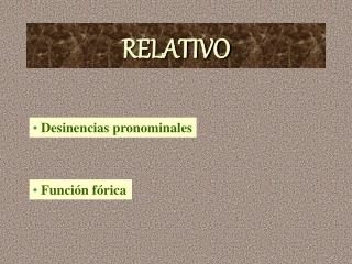 RELATIVO