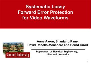 Systematic Lossy  Forward Error Protection  for Video Waveforms