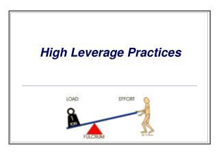 High Leverage Practices