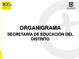 ORGANIGRAMA SECRETARÍA DE EDUCACIÓN DEL DISTRITO