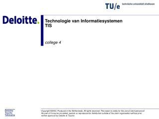 Technologie van Informatiesystemen TIS
