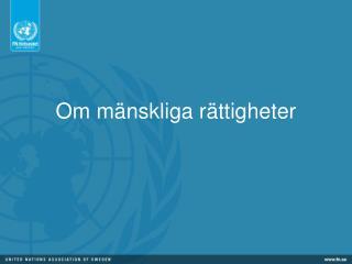 Om mänskliga rättigheter