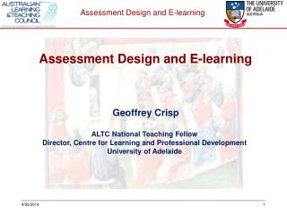 Geoffrey Crisp ALTC National Teaching Fellow