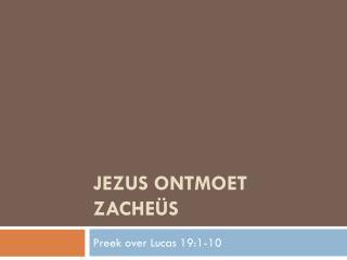 Jezus ontmoet Zacheüs
