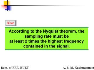 According to the Nyquist theorem, the sampling rate must be