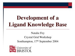 Development of a  Ligand Knowledge Base