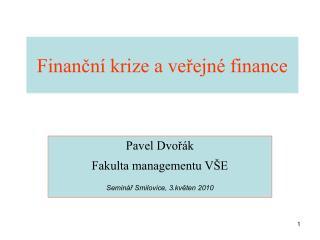 Finanční krize a veřejné finance