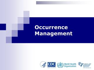 Occurrence Management - Module 14