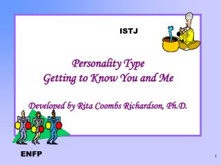 Personality Type Getting to Know You and Me Developed by Rita Coombs Richardson, Ph.D.