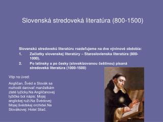 Slovenská stredoveká literatúra (800-1500)