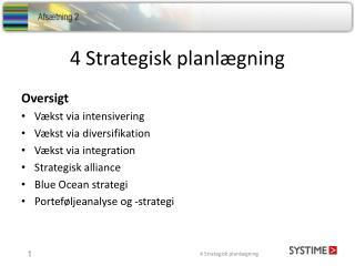 4 Strategisk planlægning