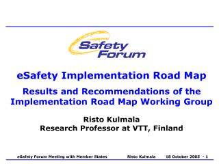 eSafety Implementation Road Map