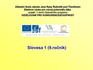 Slovesa 1 (9.ročník)
