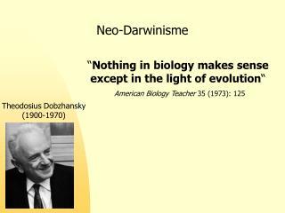 Neo-Darwinisme