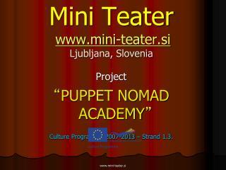 Mini Teater mini-teater.si Ljubljana, Slovenia