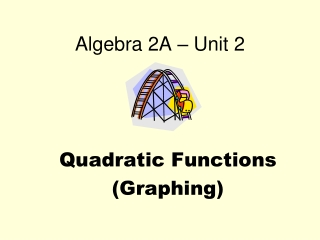 Chapter 3: Quadratic Functions and Equations