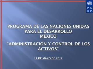PROGRAMA DE LAS NACIONES UNIDAS PARA EL DESARROLLO MÉXICO