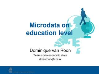 Microdata on  education level