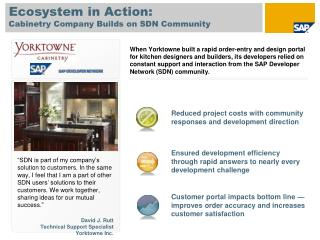 Cabinetry Company Builds on SDN Community