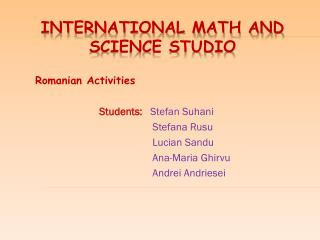 International Math and Science Studio