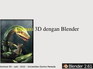 Animasi  3D dengan Blender