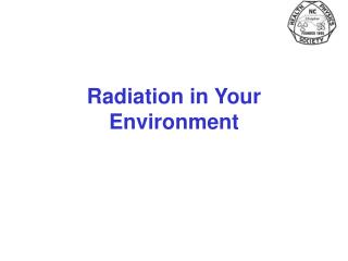 Radiation in Your Environment