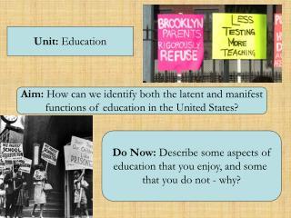 Unit:  Education
