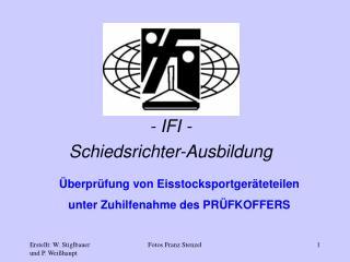 - IFI - Schiedsrichter-Ausbildung
