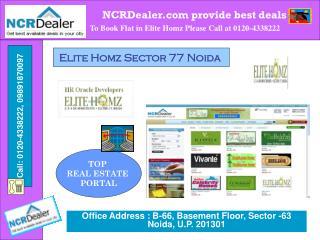 World Class amenities in Elite Homz Sector 77 Noida