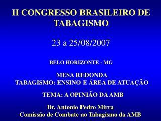 II CONGRESSO BRASILEIRO DE TABAGISMO