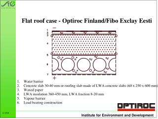 Flat roof case - Optiroc Finland/Fibo Exclay Eesti