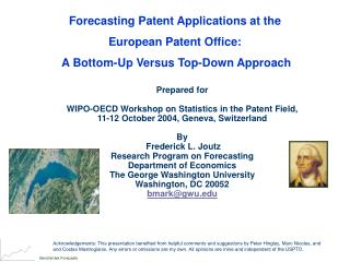 Forecasting Patent Applications at the  European Patent Office: