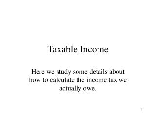 Taxable Income