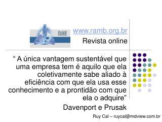 ramb.br Revista online