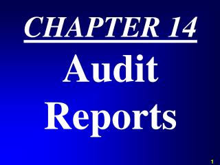 CHAPTER 14 Audit Reports