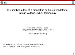 The first beam test of a monolithic particle pixel detector in high-voltage CMOS technology