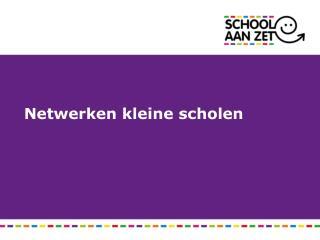 Netwerken kleine scholen