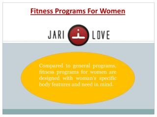 Best Fitness Program for Women
