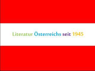 Literatur �sterreichs seit 1945