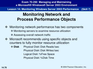 Monitoring network performance has two components