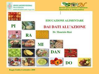 Servizio Igiene Alimenti e Nutrizione Dipartimento di Sanità pubblica