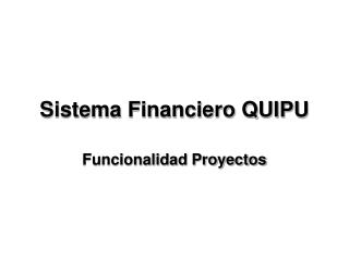 Sistema Financiero QUIPU