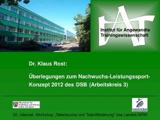 Institut f�r Angewandte Trainingswissenschaft