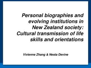 Vivienne Zhang & Nesta Devine
