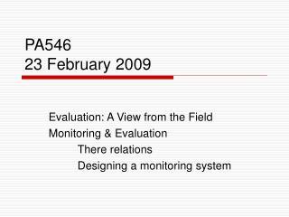 PA546 23 February 2009