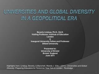 Universities and Global Diversity in a Geopolitical Era