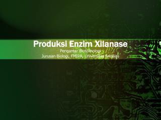 Produksi Enzim Xilanase